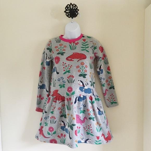 Dark Grey Space NEW Mini Boden Fun Printed Dress Age 11 to 12 years